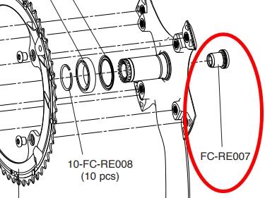 CAMPAGNOLO FC-RE007 crankset fixing bolt