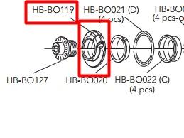 CAMPAGNOLO HB-BO119 Hub Adjusting Sleeve