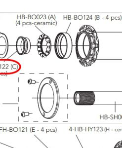 カンパニョーロ HB-BO122カップ&コーンタイプ 玉押し(1個)