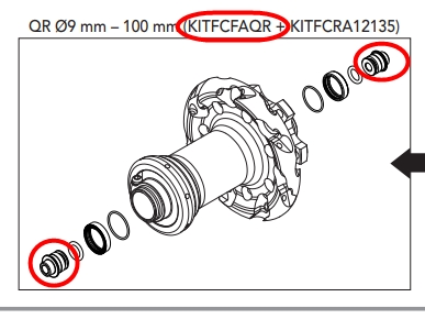 CAMPAGNOLO KITFCFAQR(Option kit QR for front hub)