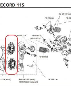 CAMPAGNOLO RD-SR600 SuperRecord 11s derailleur pulleys(8,4 mm)