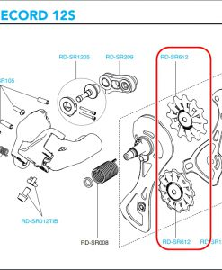 CAMPAGNOLO RD-SR612 SuperRecord 12s derailleur pulleys(8.0mm)