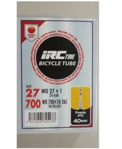 IRC 700x18-26 チューブ (仏バルブ 40mm) バルブコア取外し可