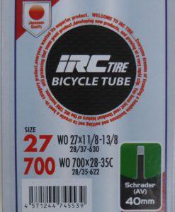 IRC 700x28-35 チューブ (米バルブ 40mm)