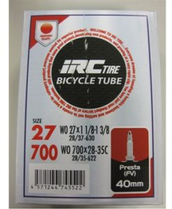 IRC 700x28-35 チューブ (仏バルブ 40mm)