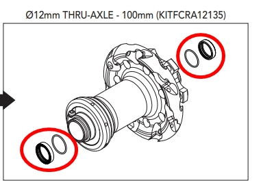 CAMPAGNOLO KITFCRA12135 Option kit HH12 /135 Front/Rear Hub DB