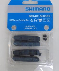 シマノ BR-9000 ブレーキシュー&固定ネジ(2ペア入り) R55C4 カーボンリム用 Y8L298072