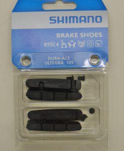 シマノ BR-9000 ブレーキシュー&固定ネジ(2ペア入り) R55C4 アルミリム用 Y8L298062